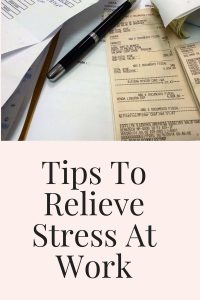 relieve stress at work