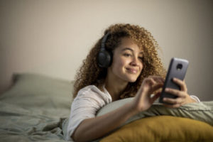 play soft music to relax and unwind