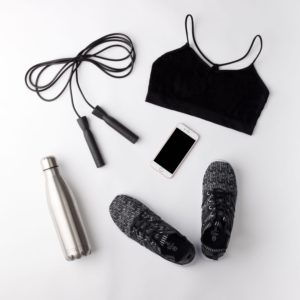 exercise clothes and accessories