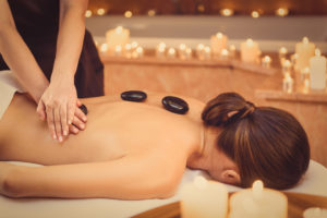 get a massage to relax and unwind