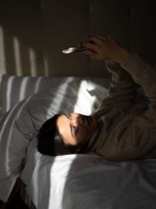 limit using your cel phone in bed