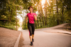 walk outdoors for exercise